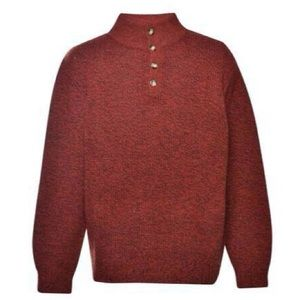 LL Bean lambswool 4-button sweater size L #237772